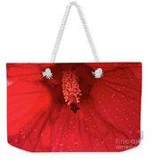 Red Saturation Point Weekender Tote Bag
