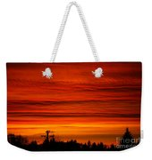 Red Skies At Night Weekender Tote Bag