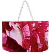 Red Speckled Rose Weekender Tote Bag