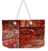 Red Splashes Swishes And Swirls - Abstract Art Weekender Tote Bag