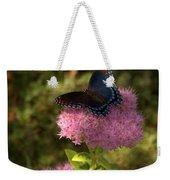 Red Spotted Purple Butterfly On Sedum Weekender Tote Bag