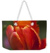 Red Spring Blooming Tulip Weekender Tote Bag
