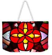 Red Stained Glass Weekender Tote Bag