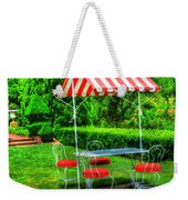Red Stripes Weekender Tote Bag