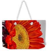 Red Sunflower V Weekender Tote Bag