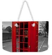 Red Telephone Box Weekender Tote Bag