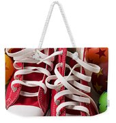 Red Tennis Shoes And Balls Weekender Tote Bag