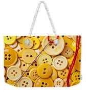 Red Thread And Yellow Buttons Weekender Tote Bag