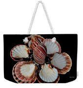 Red-toned Seashells Weekender Tote Bag