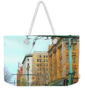 Red Trolley Green Trolley Weekender Tote Bag