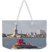 Red Tug Three And Liberty Weekender Tote Bag