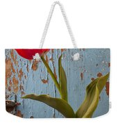 Red Tulip Bending Weekender Tote Bag