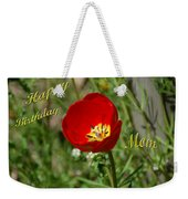 Red Tulip Birthday Weekender Tote Bag