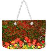 Red Tulip Flowers Weekender Tote Bag