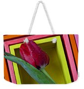 Red Tulip In Box Weekender Tote Bag