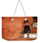 Red Wall Weekender Tote Bag