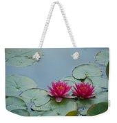 Red Water Lilies Weekender Tote Bag