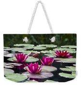 Red Water Lillies Weekender Tote Bag