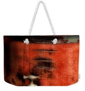 Red Weathered Wooden Bucket Weekender Tote Bag