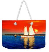 Red White Blue Cape Cod Will Do Weekender Tote Bag