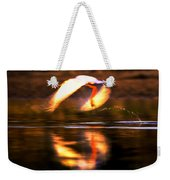 Red White Reflection Weekender Tote Bag