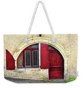 Red Windows And Door Provence France Weekender Tote Bag