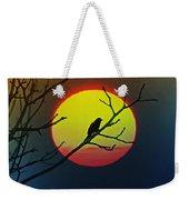 Red Winged Blackbird In The Sun Weekender Tote Bag