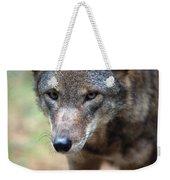 Red Wolf Closeup Weekender Tote Bag