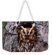 Reddish Screech Owl Weekender Tote Bag
