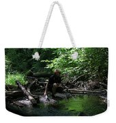 Reflected In Green Weekender Tote Bag