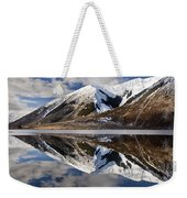 Reflection In Lake Pearson, Castle Hill Weekender Tote Bag