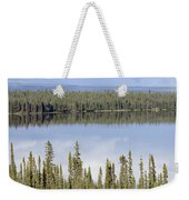 Reflection In Willow Lake Near Copper Weekender Tote Bag