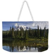 Reflection Lake And Mount Rainier Weekender Tote Bag