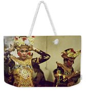 Reflection Of A Kecak Dancer Weekender Tote Bag