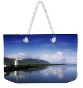 Reflection Of A Traditional Windmill In Weekender Tote Bag