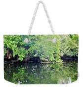 Reflection On The North Fork River Weekender Tote Bag