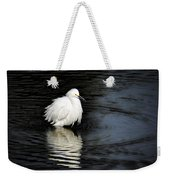 Reflections Of An Egret  Weekender Tote Bag