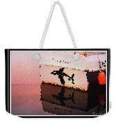Reflections Of An Orca In Stained Glass Weekender Tote Bag