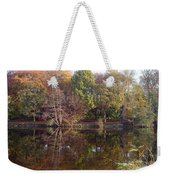 Reflections Of Autumn Weekender Tote Bag by Rod Johnson