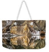Reflections Of Clay Cliffs In Blue Lake Weekender Tote Bag