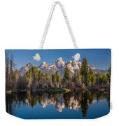Reflections On Schwabacher Landing Weekender Tote Bag