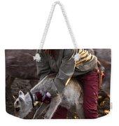 Reindeer Farm Work Weekender Tote Bag