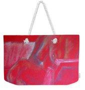 Relaxing In Red Weekender Tote Bag