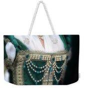 Renaissance Lady In Green Weekender Tote Bag