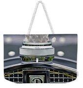 Rene Lalique Glass Eagles Head Hood Ornament 2 Weekender Tote Bag