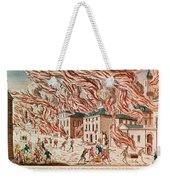 Representation Of The Terrible Fire Of New York Weekender Tote Bag