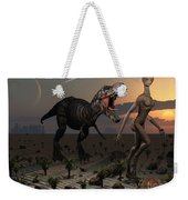 Reptoids Tame Dinosaurs Using Telepathy Weekender Tote Bag