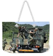 Republic Of Korea Marines Dismount Weekender Tote Bag