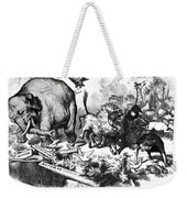 Republican Elephant, 1874 Weekender Tote Bag