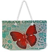 Republique Centrafricaine Butterfly Stamp Weekender Tote Bag